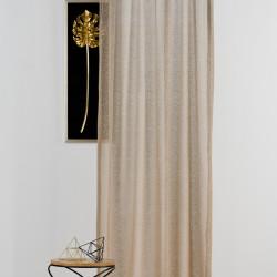 Perdea Mendola Interior, Elegance, 140x245 cm, poliester, cafe/aur