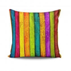 Perna decorativa, Kissy, NKRLNT-112, 43x43 cm, policoton, multicolor