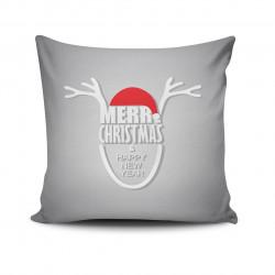 Perna decorativa NOELKRLNT-6, Christmas, 43x43 cm, policoton, multicolor