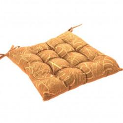 Perna pentru scaun Exotic, 40x40 cm, poliester, galben