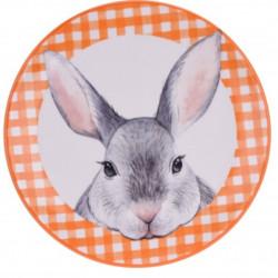 Platou pentru servire Bunny, Ø16 cm, dolomit, portocaliu