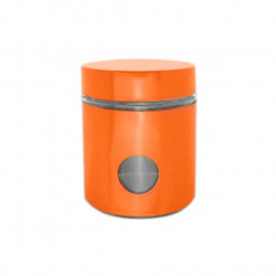 Recipient cu capac Muhler, MR-1403, sticla/metal, 550 ml, portocaliu