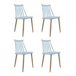 Set 4 scaune Moon, Heinner, plastic, albastru