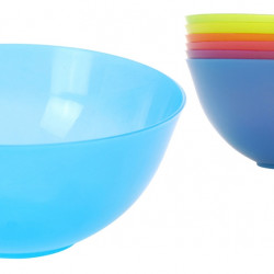 Set 6 boluri Rainbow, 600 ml, polipropilena, multicolor