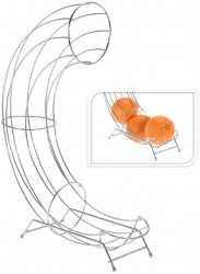 Suport pentru portocale, 31x11x44 cm, crom