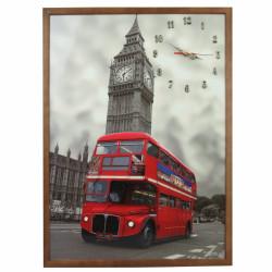 Tablou cu ceas London, Heinner Home, 50x70 cm, lemn
