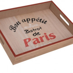 Tava pentru servire Paris, 40x30x5.2 cm, MDF, maro