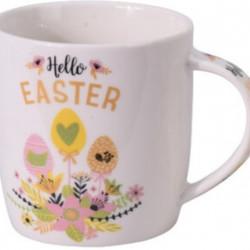 Cana Hello Easter, 370 ml, portelan, multicolor