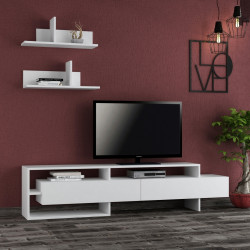 Comoda TV, Homitis, Gara - White, 32x180x42 cm