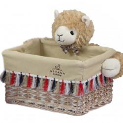 Cos S Alpaca Bedora, salcie/material textil, multicolor