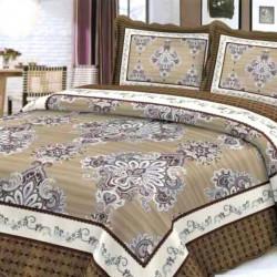 Cuvertura de pat + 2 Fete de Perne, Bumbac Tip Finet, Imprimata, Pat 2 persoane, CFI-11