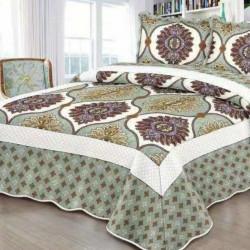 Cuvertura de pat + 2 Fete de Perne, Bumbac Tip Finet, Imprimata, Pat 2 persoane, CFI-99