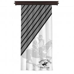 Draperie Beverly Hills Polo Club, 140x260, 100% poliester, Black/White/Grey