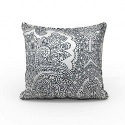 Fata de perna Lace, Fashion Goods, 45x45 cm, microfibra, alb/negru