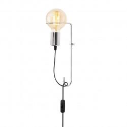 Lampa de perete Opviq Pota, 9x30 cm, E27, 100 W, crom