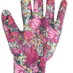 Manusi pentru gradinarit Flower, S, poliester, roz