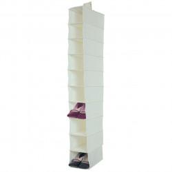 Organizator, Jocca, 10 rafturi, 15x30x122 cm, polipropilena, alb