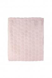 Patura Mistral Flannel plaid combo, Soft Dots, 130x170 cm, 100% poliester, roz