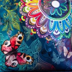 Perna Decorativa 50x50 cm, Puf siliconic + Catifea, Multicolor, Z08-11