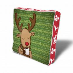 Perna decorativa Deer, Christmas, 43x43 cm, policoton, multicolor