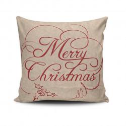 Perna decorativa NOELKRLNT-11, Christmas, 43x43 cm, policoton, multicolor