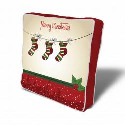 Perna decorativa Socks, Christmas, 43x43 cm, policoton, multicolor