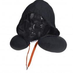 Perna pentru gat cu gluga, 30x32 cm, poliester, gri inchis