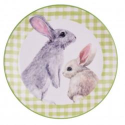 Platou pentru servire Bunny, Ø20 cm, dolomit, verde