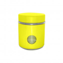 Recipient cu capac Muhler, MR-1403, sticla/metal, 550 ml, galben