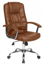 Scaun de birou ergonomic, Bedora Abraj, piele ecologica, Coffee