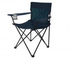 Scaun pliabil pentru camping, metal/poliester, petrol