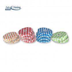 Set 10 capace perforate pentru halba Color, Heinner, metal, multicolore