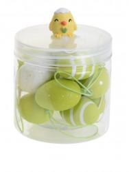 Set 12 oua decorative Easter Egg, polipropilena, verde