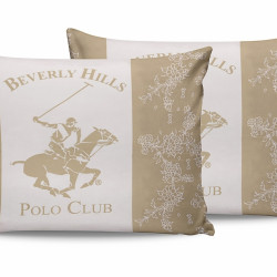 Set 2 fete de perna 50x70, 100% bumbac, Beverly Hills Polo Club, BHPC 013 - Cream, Alb/Crem