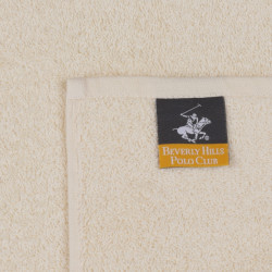Set 2 prosoape de maini, Beverly Hills Polo Club, Botanik, 50x90 cm, 100% bumbac, caramiziu/crem