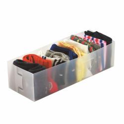 Set 3 organizatoare sertar Jocca, 30x10.5x8 cm, plastic, alb mat