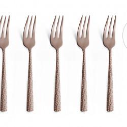Set 6 furculite pentru desert, Amefa, Felicity, inox