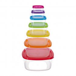 Set 7 caserole patrate Joy, Vanora, plastic, multicolor