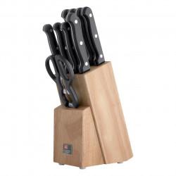 Set 9 cutite cu suport, Amefa, Artisan, inox/lemn