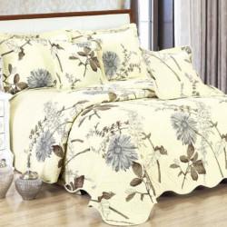 Set Cuvertura Bumbac + 4 Fete de Perne, Yellow Flower