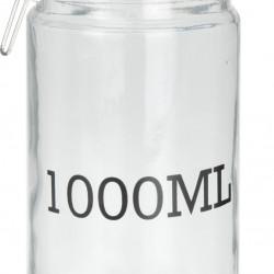 Borcan cu capac ermetic, 1000 ml, sticla