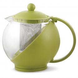 Ceainic cu infuzor Luigi Ferrero, FR-8125JS, sticla temperata/inox, 1.25 L, verde