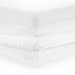 Cearceaf de pat cu elastic White Heinner, 90x200 cm, 100% bumbac, alb