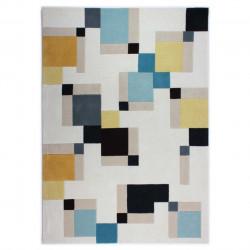 Covor Illusion Abstract Blue/Ochre 160x230 cm