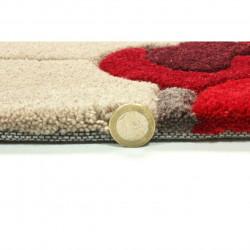 Covor Infinite Blossom Red, Flair Rugs, 135 cm, 100% poliester, rosu/bej/crem