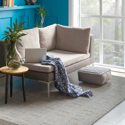 Covor Lanit Grey, Bedora, 80 x 150 cm, 100% polipropilena, gri