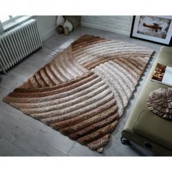 Covor Verge Furrow Natural, Flair Rugs, 120 x 170 cm, 100% poliester, maro
