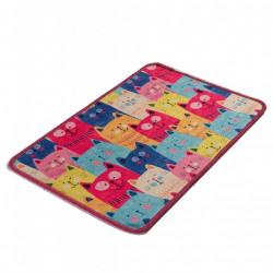 Covoras de baie, Chilai, Meow DJT - Colourful, 40x60 cm