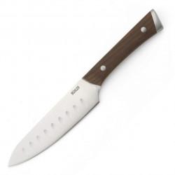 Cutit santoku Muhler, MR-2513SS, 13 cm, inox/lemn de frasin