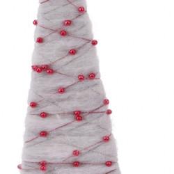 Decoratiune Xmas Tree, lana, alb